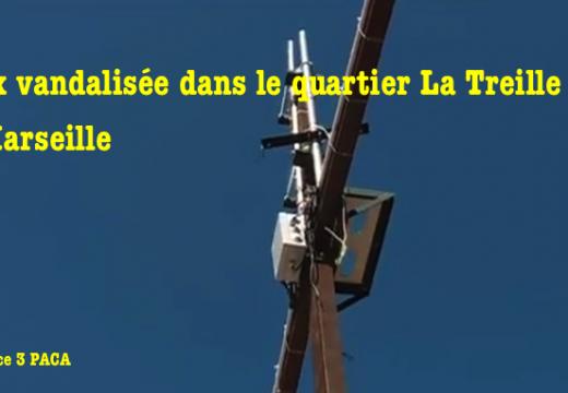Croix vandalisée dans le quartier La Treille de Marseille