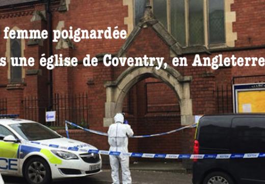 Une femme poignardée dans une église de Coventry