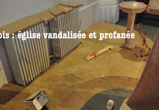 Côte-d'Or : vandalisme et profanation dans l'église de Domois à Fenay