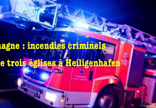 Incendies criminels contre trois églises dans le Schleswig-Holstein