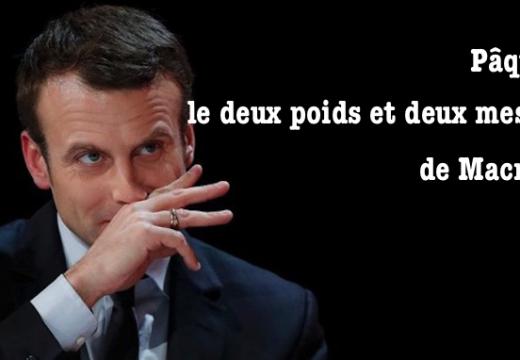 Emmanuel Macron et le deux poids et deux mesures