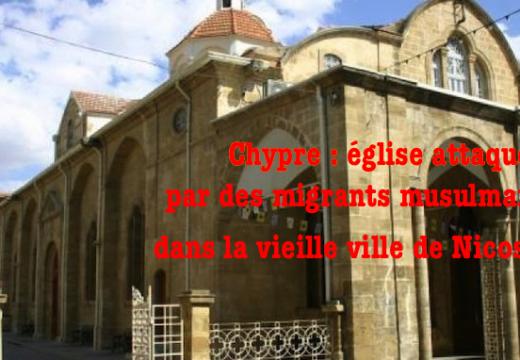 Église attaquée par des migrants musulmans à Nicosie