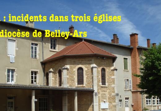 Ain : incidents dans trois églises du diocèse de Belley-Ars