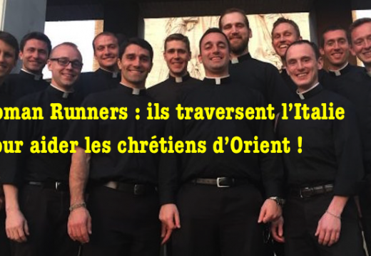 Italie : des séminaristes courent pour les chrétiens d'Orient