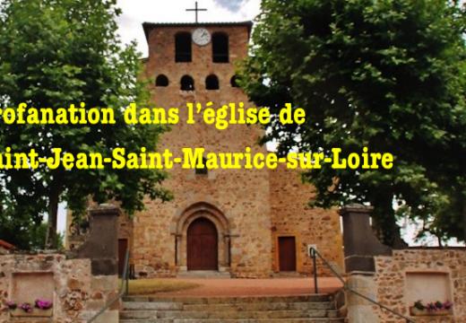 Profanation dans l'église de Saint-Jean-Saint-Maurice-sur-Loire
