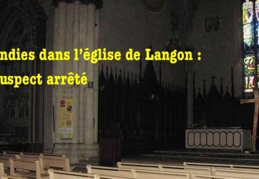 Langon : suspect arrêté pour les incendies de l'église