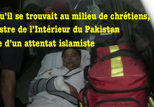 Pakistan : attentat contre le ministre de l'Intérieur alors qu'il se trouvait au milieu de chrétiens