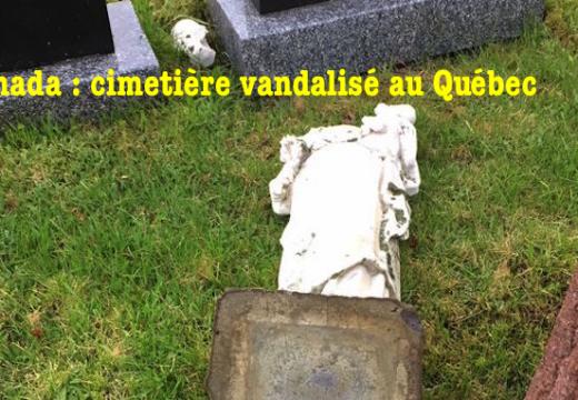 Cimetière vandalisé au Québec