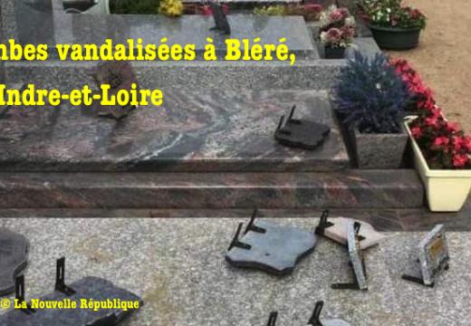Cimetière vandalisé à Bléré, en Indre-et-Loire