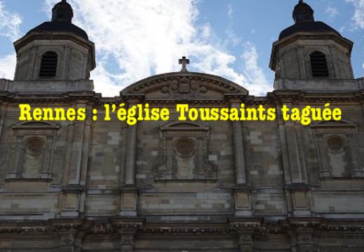 Tag sur l'église Toussaints de Rennes