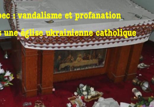 Vandalisme et profanation dans une église au Québec