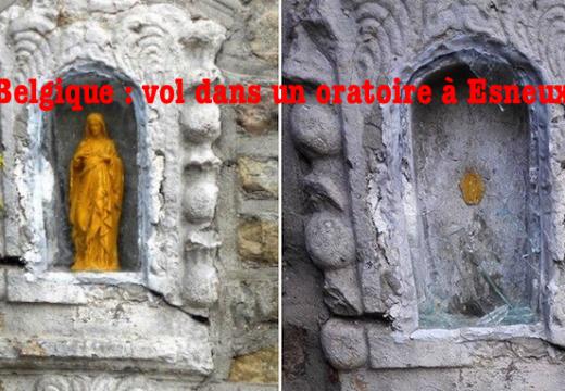 Belgique : vandalisme et vol dans un oratoire à Esneux