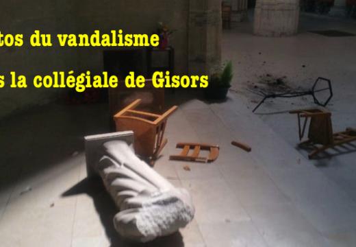 Photos du vandalisme dans la collégiale de Gisors