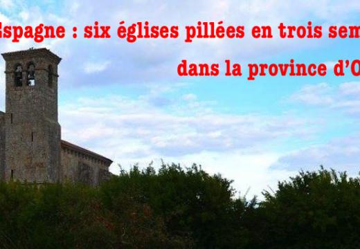 Espagne : six églises pillées en trois semaines