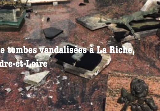 Cimetière vandalisé à La Riche en Indre-et-Loire