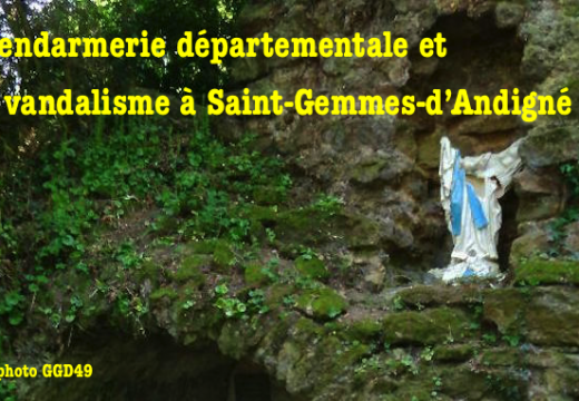 La Gendarmerie et le vandalisme à Saint-Gemmes-d'Andigné