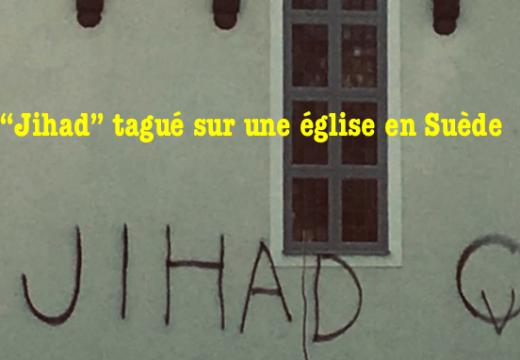 """Suède : le mot """"Jihad"""" tagué sur une église"""