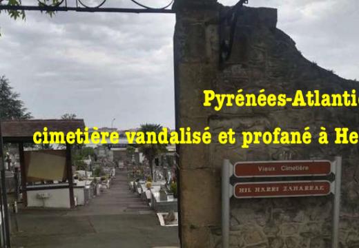 Cimetière vandalisé et profané à Hendaye