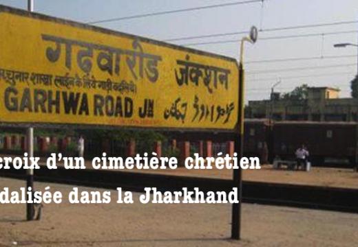 Croix vandalisée dans un cimetière chrétien en Inde