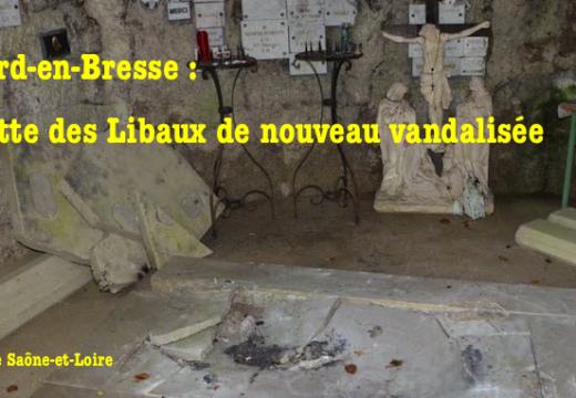 La grotte des Libaux de Lessard-en-Bresse de nouveau vandalisée