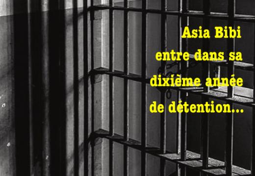 Asia Bibi entre dans sa dixième année de détention…