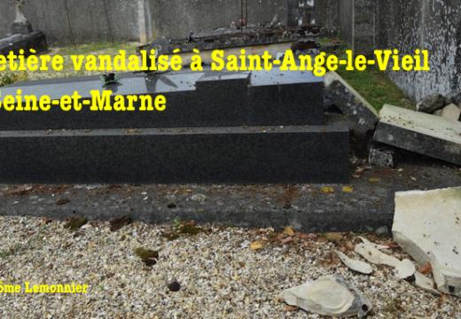Cimetière vandalisé en Seine-et-Marne