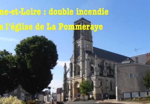 Double incendie dans l'église de La Pommeraye en Maine-et-Loire