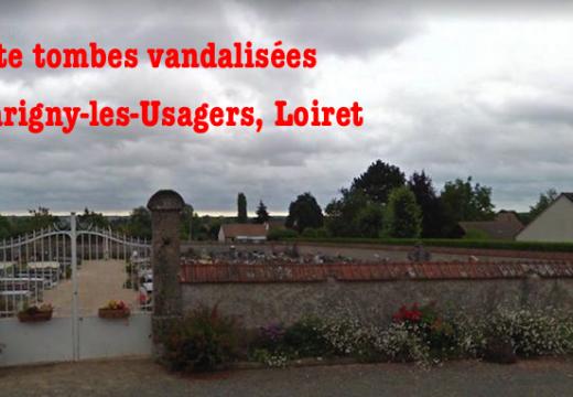 Cimetière vandalisé à Marigny-les-Usagers dans le Loiret