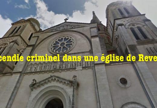 Incendie criminel d'une église à Revel, Haute-Garonne