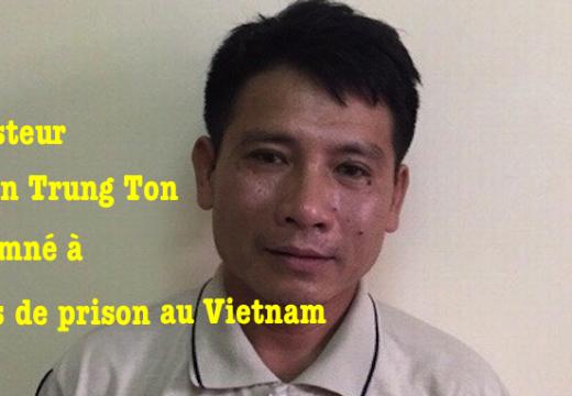 Un pasteur vietnamien condamné à 12 ans de prison