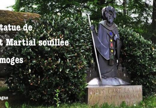 La statue d'un saint populaire souillée à Limoges