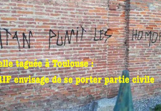 Chapelle taguée à Toulouse : l'AGRIF envisage de se porter partie civile