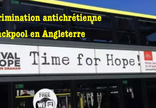 Angleterre : discrimination antichrétienne de Blackpool Transport
