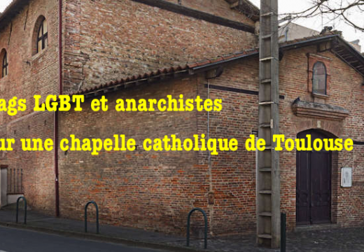 Chapelle taguée à Toulouse