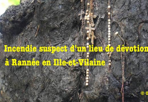 Un incendie suspect détruit un lieu de dévotion en Ille-et-Vilaine