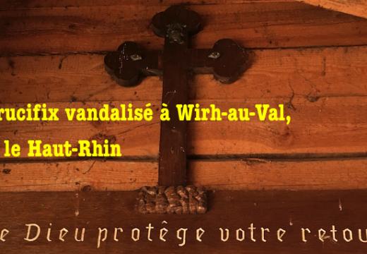 Un crucifix vandalisé dans un refuge à Wihr-au-Val en Alsace